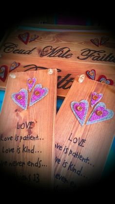 Love is.... Button Heart Crafts x