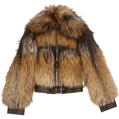 JACKET ALEXANDER MCQUEEN (€2.700) ❤ liked on Polyvore featuring outerwear, jackets, fur, coats, coats & jackets, alexander mcqueen, brown jacket, alexander mcqueen jacket, fur jacket and brown fur jacket