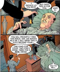 I love just how much the batboys love Alfred.