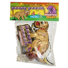 Phantom Fireworks Poopy Pooch: It poops, then finishes off with a crackle!