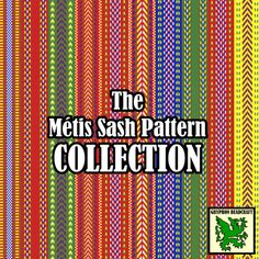 Loom Beading Patterns The Métis Sash Pattern by GryphonBeadcraft