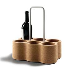 Amorim Materia | Six Bottle Carrier | Designer Cork Bottle Carrier…