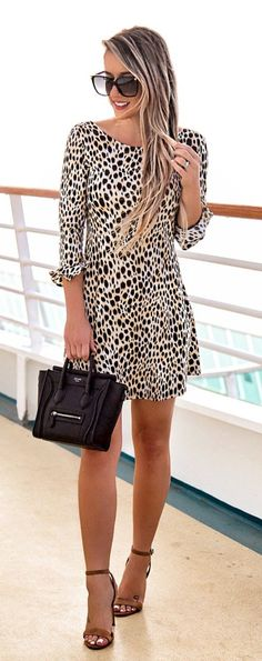 Outfit Of The Night!✔️ Found The Perfect Leopard Dress Leopard Print Outfits, Leopard Dress, Trendy Dresses, Casual Dresses, Fashion Dresses, Fashion Clothes, Dress Clothes, Fashion Now, Trendy Fashion