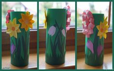 Wiosenna łąka na rolce z szablonami. | blog4you
