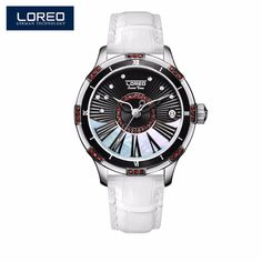 >> Click to Buy << LOREO Rose Gold Design Brown Women Watch Luxury Hollow Design Mechanical Watch Female Clock Casual Auto Date Wristwatches AB2070 #Affiliate