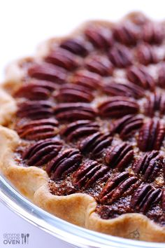 Seriously the BEST pecan pie recipe -- this easy and classic recipe is perfect for https://gimmesomeoven.com