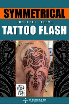Hand drawn tattoos in Polynesian style, Samoan, Maori, Marquesas and Hawaiian designs in high resolution, by Dutch tattoo designer Mark Storm