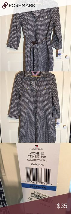 Tommy Hilfiger Shirtdress NWT, Tommy Hilfiger shirt dress perfect for spring and summer. Tommy Hilfiger Dresses