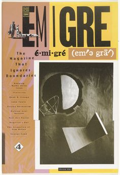 Emigre Magazine Issue The Magazine That Ignores Boundaries. State-of-the-art computer typesetting and type design by Zuzana Licko are utilized throughout this issue. Design Editorial, Editorial Layout, Emigre Magazine, Typography Design, Lettering, Magazin Design, Graphic Design Inspiration, Typography Inspiration, Layout Design