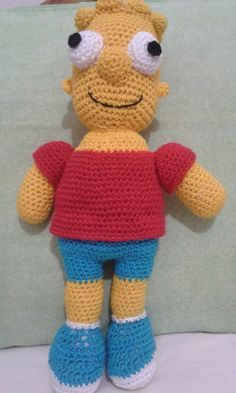 Bart Simpson amigurumi louco para aprontar todas na sua casa!