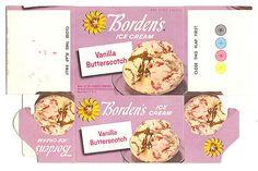 1964 Borden's Ice Cream Carton Box