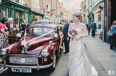 Getting Married in York City Centre. Urban Wedding. Wedding Car. Bride. Yorkshire Wedding Photographers www.jamesandlianne.com