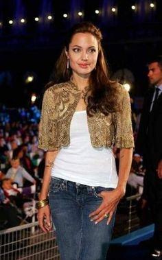 Angelina Jolie keeps it simple in denim