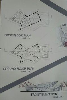 Folding Architecture, Architecture Design, Architecture Concept Drawings, Architecture Presentation Board, Museum Architecture, Architecture Board, Architecture Student, Commercial Architecture, Design Graphique