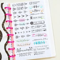 A great way for making decorating your bujo a lot easier is to create reference sheets with different banners, fonts, borders, icons, etc. I keep mine on the back of my planner so I can easily access them and copy the design I want to use each day. I'll be creating a lot of these so I never run out of ideas!  What do you do to make your bujo decoration easier?   #bujo #bulletjournal #bulletjournaling #bulletjournallove #bulletjournaljunkie #bulletjournaljunkies #bulletjournaladdict #bull...