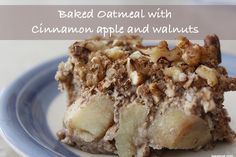 Baked Oatmeal with Cinnamon Apple and Walnuts