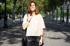 leather short, lace, selfdressed, redhaired, streetstyle, fashion