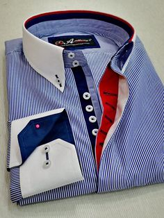 Kerah Moda Peru, Gents Kurta Design, Italian Shirts, Shirt Collar Styles, Gentleman's Wardrobe, Mens Designer Shirts, Kurta Designs, Cool Shirts, Shirt Style