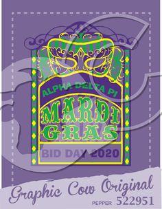Mardi Gras bid day mask masquerade #grafcow
