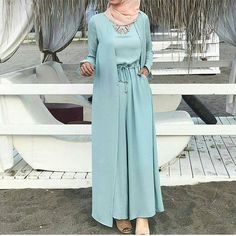 Trendy ideas for style fashion romantic casual Modest Fashion Hijab, Street Hijab Fashion, Hijab Chic, Abaya Fashion, Fashion Outfits, Style Fashion, Modest Dresses, Modest Outfits, Casual Dresses