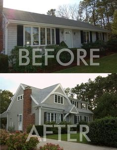 Before and after adding second story on 1950s ranch | 2nd story addition on a ranch style house. I will have to keep this ... Let http://Contractors4you.com Find your contractor fast Use our free service-Also free leads for contractors