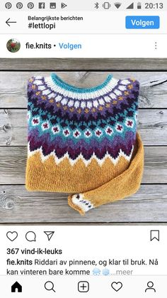 Knitted Coat, Hand Knitted Sweaters, Diy Crochet And Knitting, Hand Knitting, Fair Isle Knitting Patterns, Crochet Patterns, Norwegian Knitting, Icelandic Sweaters, Yarn Projects