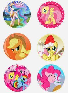"My Little Pony Free 1"" inch digital bottle cap images"