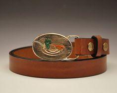 Men's Handmade Bronze Royal Wulff Fly Buckle by TafSchaeferDesign