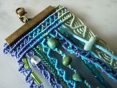 Bracelet multi-rangs en micro-macramé : Bracelet par o-fildesoi