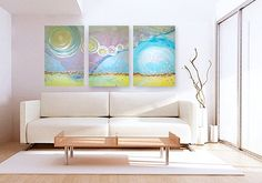 SOLSTiCE original abstract modern paintings  by linneaheideart, $600.00