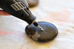 Idea para grabar piedras de río - Guía de MANUALIDADES