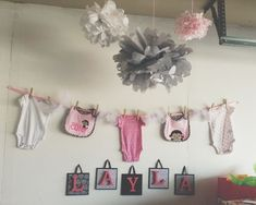 baby shower ideas for girls pink and black - Google Search