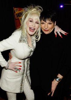 Dolly Parton and Liza Minnelli