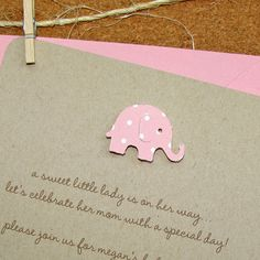 Handmade Recycled Girl Baby Shower Invitations  by graciegirlnotes