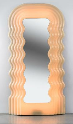 Illuminated mirror by Ettore Sottsass