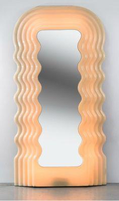 Illuminated mirror by Ettore Sottsass