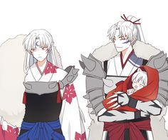 Inuyasha- Sessomaru, Inuyasha, and their father #Anime
