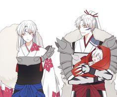 Inuyasha- Sessomaru, Inuyasha, and their father #Anime