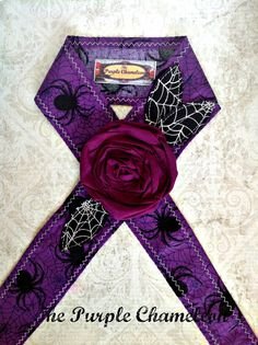 Elvira Purple Spider Tie on Headwrap Tie on by ThePurpleChameleon, $16.00