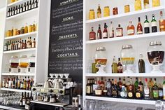 Bar at Grass Fed - Chai Burbon is in the dispenser on the shelf, very intrigued.