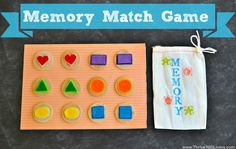 Thrive 360 Living: Memory Match Game - with matching bag for traveling Kids Travel Activities, Quiet Time Activities, Toddler Activities, Toddler Play, Toddler Preschool, Preschool Crafts, Preschool Activities, Kids Crafts, Learning Through Play