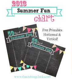Summer Printable Fun List from The Crafting Chicks, featured @printabledecor1