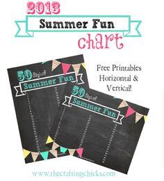 Summer Printable Fun List