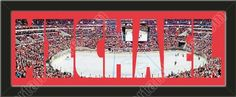 PERSONALIZE YOUR NAME with a framed small Washington Capitals stadium panoramic behind your name, single matted in team colors to 27 x 9.5 inches. $89.99       @ ArtandMore.com