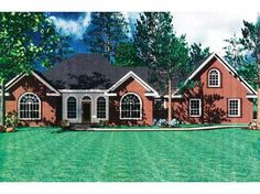 Home Plans HOMEPW13704 - 1,855 Square Feet, 3 Bedroom 2 Bathroom French Country Home with 2 Garage Bays
