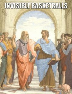 Plato and Aristotle in The School of Athens, by italian Rafael - Eudaimonia - Wikipedia, the free encyclopedia Modern Philosophy, Western Philosophy, Philosophy Of Education, Philosophy Major, History Jokes, Art History, School Of Athens, Law School, Bronn