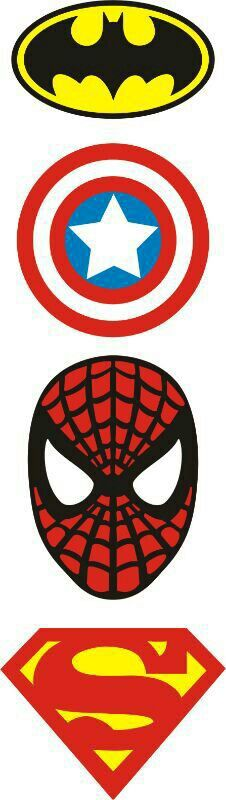 Super hero logos for the party