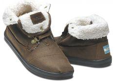 Highlands Brown Fleece Women's Botas | TOMS.com