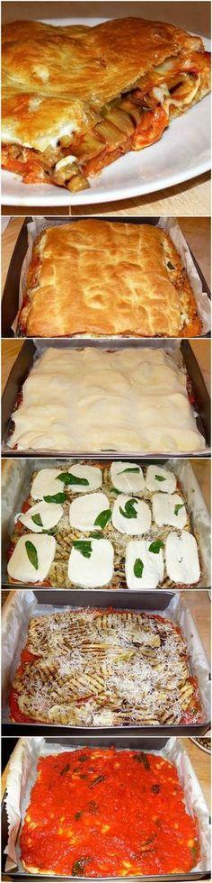 Una parigina speciale con melanzane mozzarella e sugo di pomodoro