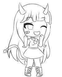 Chibi Kawaii Girl Gacha Life Coloring Pages Girl In 2020 Chibi